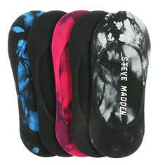 Steve Madden Women's SM28343P 5-Pack Tie Dye Footies