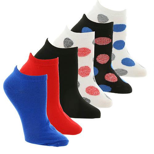 Steve Madden Women's SM36118A 6PK Low Cut Socks