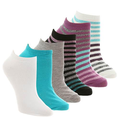 Steve Madden Women's SM36117A 6-Pack Low Cut Socks