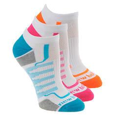 New Balance Women's N611-3 Perf No Show 3-Pack Socks