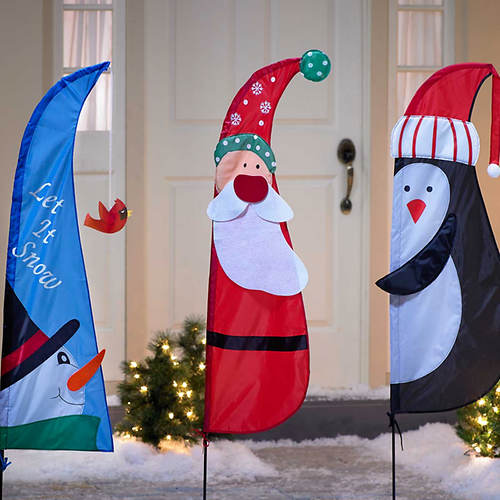 3-Pc. Christmas Yard Flags