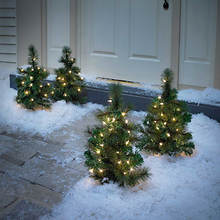 Lighted Pathway Trees- Set of 2