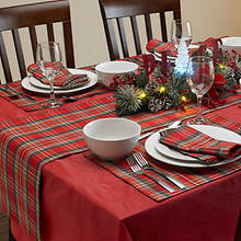 9-Pc. Christmas Plaid Table Setting