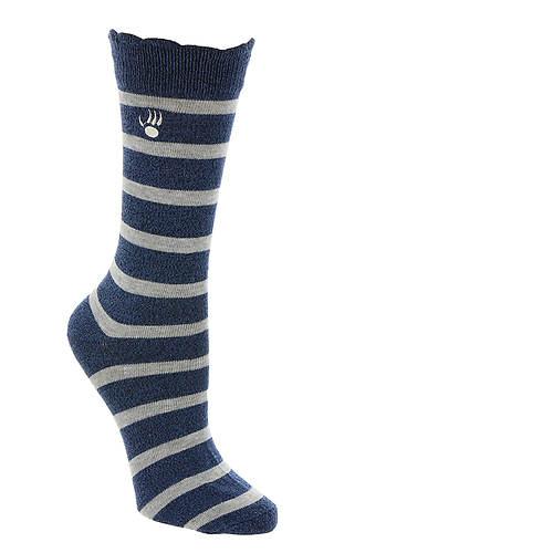 BEARPAW Women's Striped Crew Socks