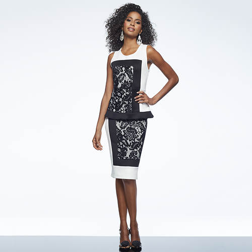 Lace Colorblock Dress