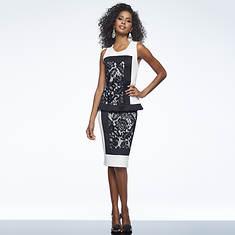 Lace Color-Block Dress