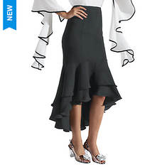 High-Low Ruffled Skirt