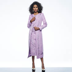 Sheath Dress with Border Jacket