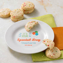 Personalized Special Day Plate & Cookies