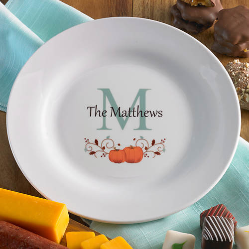 Personalized Autumn Ceramic Plate