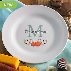 Personalized Autumn Ceramic Plate