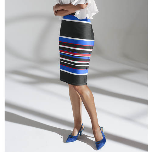 Multi-Colored Stripe Skirt