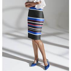 Multi-Colored Stripe Skirt