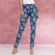 Floral Burnout Jean