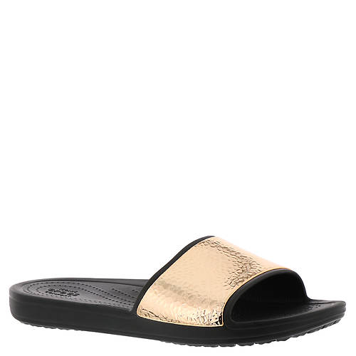 Crocs™ Sloane Hammered Metallic Slide (Women's)