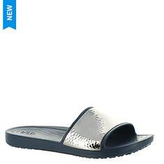 Crocs™ Sloane Hammered Metallic Slide (Women's)