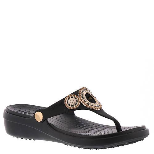 Crocs™ Sanrah Diamante Wedge Flip (Women's)