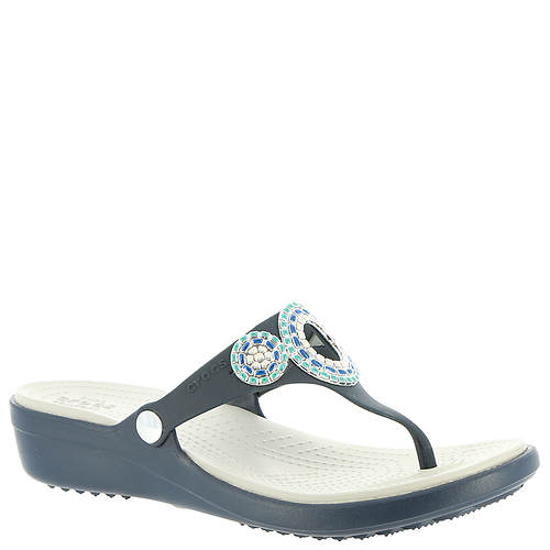 Crocs™ Sanrah Diamante Wedge Flip (Women's)