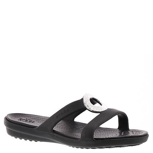 Crocs™ Sanrah Hammered Met Sandal (Women's)