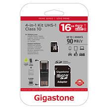 Gigastone 16GB MicroSD/SD Card Kit