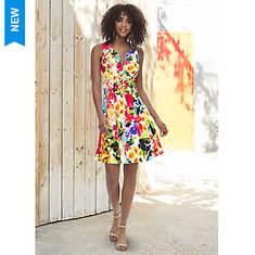 Zip-Front Skater Dress