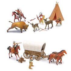 New-Ray - Big Western and Indian Playset