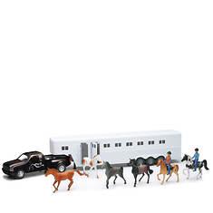 New-Ray-1:32 Black Pick-Up Fifth Wheel