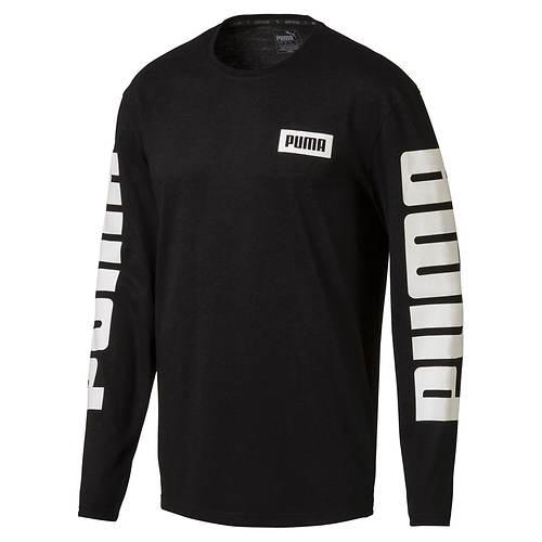 PUMA Men's Rebel Lifestyle Long-Sleeve Top