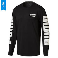 PUMA Men's Rebel Lifestyle Long-Sleeve Top