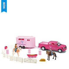 New-Ray - Pick-Up and Trailer Horse Set