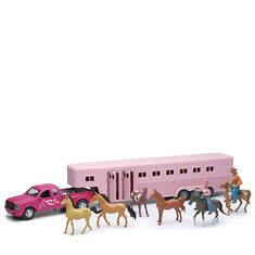 New-Ray-1:32 Pink Pick up Fifth Wheel