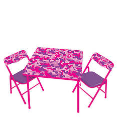 Pink Camo Table and Chairs
