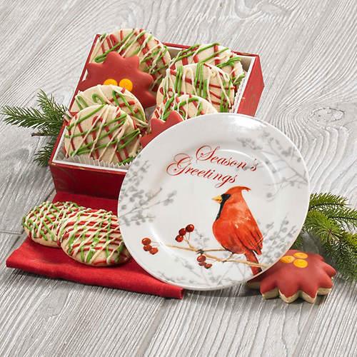Cardinal Plate & Cookies