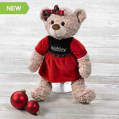 Personalized Christmas Bears - Girl
