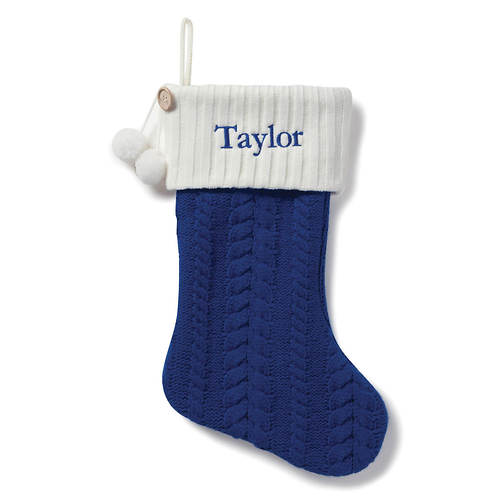 Personalized Cable Knit Stockings