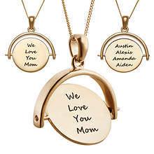 Personalized Premium Disc Spinner Pendant