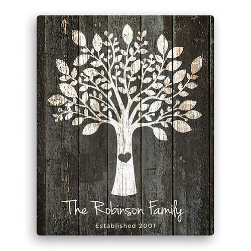 Personalized Canvas Family Tree Wall Art