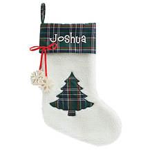 Personalized Plaid Stockings