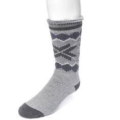 MUK LUKS Men's Heat Retainer Socks