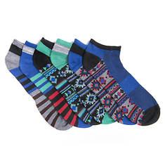 MUK LUKS Men's 6-Pack No-Show Socks