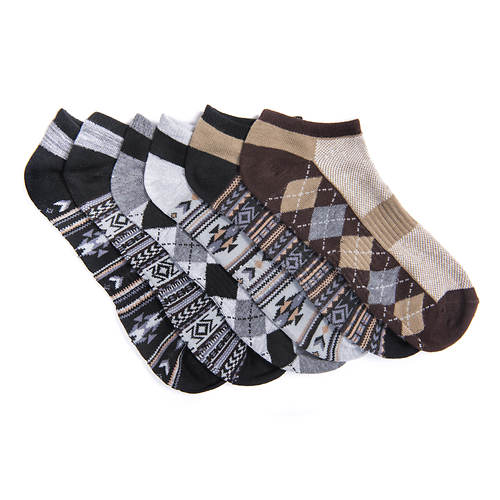 MUK LUKS Men's 6-Pack No-Show Socks