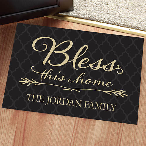 Personalized Doormat-Bless This Home