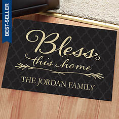 Personalized Bless This Home Doormat