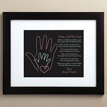 Personalized Daddy Take My Hand Framed Art