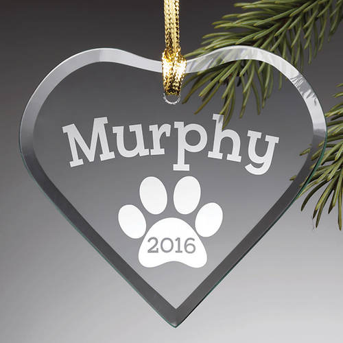 Personalized Glass Ornament-Special Dog