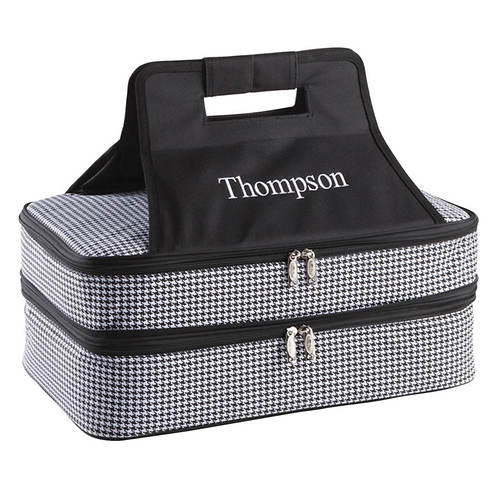 Personalized Houndstooth Entertainer Tote