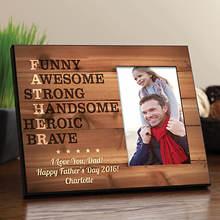Personalized Father Acronym Frame