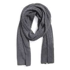 MUK LUKS Men's Camp Getaway Cable Basic Scarf