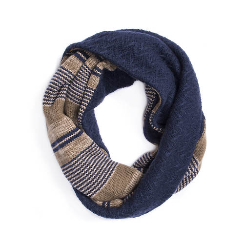 MUK LUKS Men's Ivy League Striped Eternity Scarf