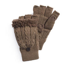 MUK LUKS Men's Ivy League Cable Flip Mitten